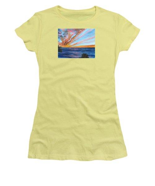 God's Magic On The Key Women's T-Shirt (Junior Cut) by Lloyd Dobson