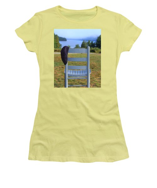 God's Waiting Room Women's T-Shirt (Athletic Fit)