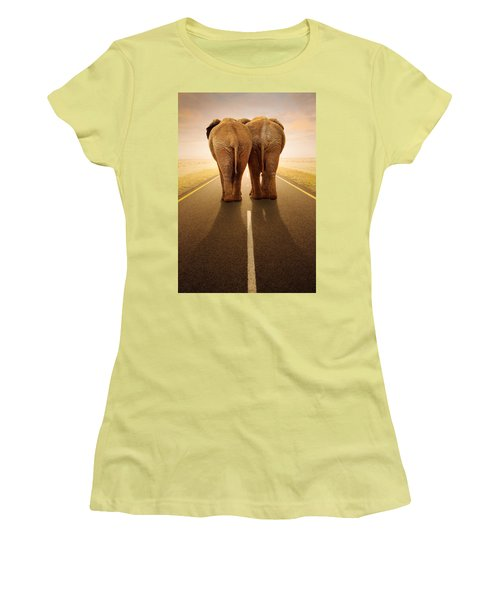 Going Away Together / Travelling By Road Women's T-Shirt (Athletic Fit)