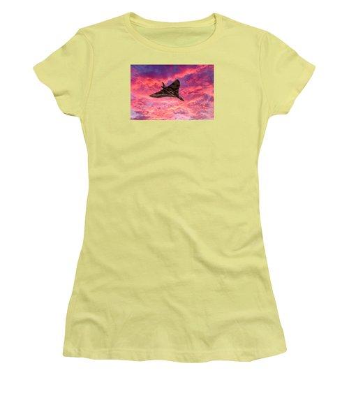 Going Out In A Blaze Of Glory Women's T-Shirt (Junior Cut) by Gary Eason