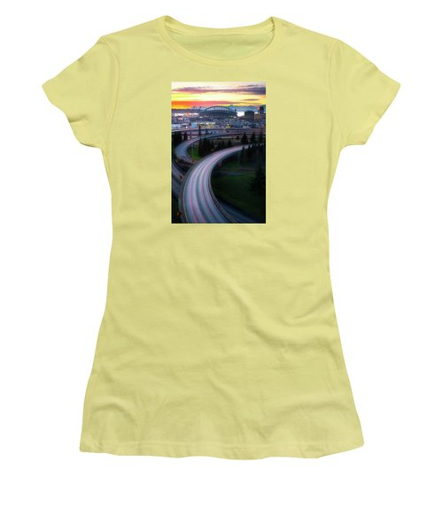 Gold And Arches Women's T-Shirt (Junior Cut) by Ryan Manuel