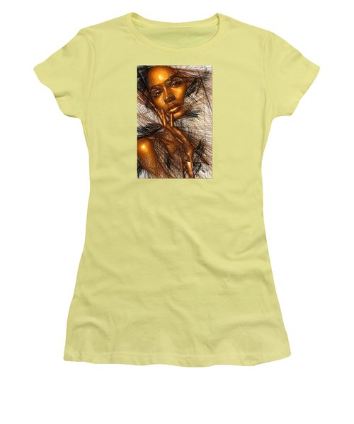 Gold Fingers Women's T-Shirt (Athletic Fit)