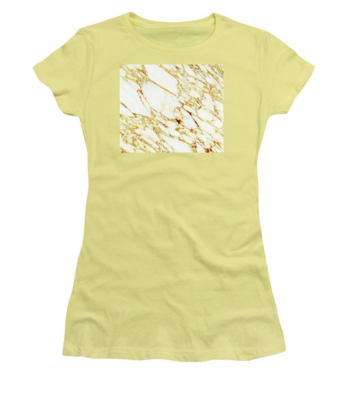 Gold Marble Women's T-Shirt (Athletic Fit)