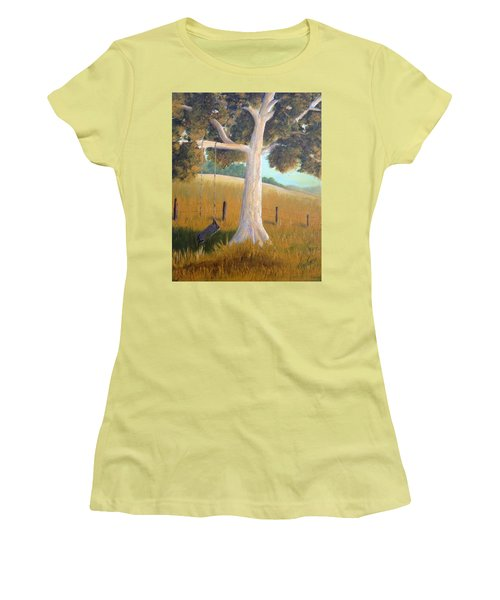 The Shadows Of Childhood Women's T-Shirt (Junior Cut) by T Fry-Green