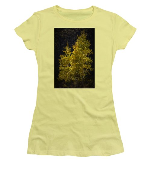 Golden Aspen Women's T-Shirt (Athletic Fit)
