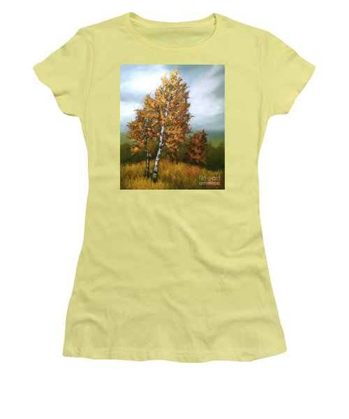 Golden Birch Women's T-Shirt (Athletic Fit)