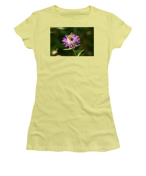 Golden Boy-bee At Work Women's T-Shirt (Athletic Fit)