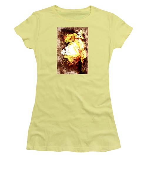 Golden Butterfly Women's T-Shirt (Athletic Fit)