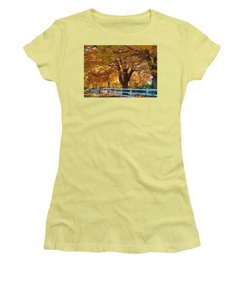 Women's T-Shirt (Junior Cut) featuring the photograph Golden Curtain by Robert Pearson