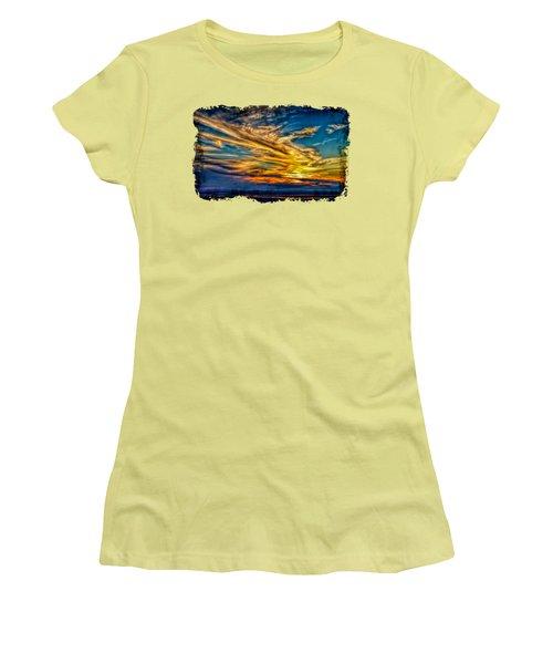 Golden Evening 2 Women's T-Shirt (Athletic Fit)