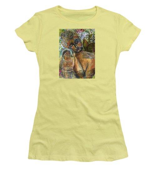 Golden Garden Women's T-Shirt (Junior Cut) by Gail Butters Cohen