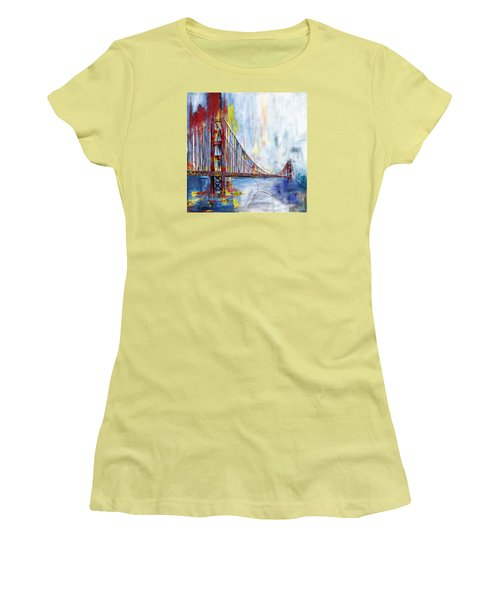 Golden Gate Bridge 218 1  Women's T-Shirt (Junior Cut) by Mawra Tahreem