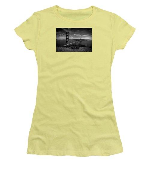 Golden Gate Bridge Locks Of Love Women's T-Shirt (Junior Cut) by Alpha Wanderlust