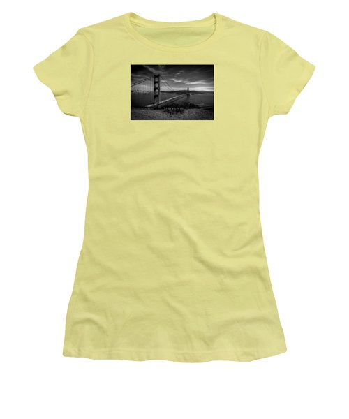Golden Gate Bridge Locks Of Love Women's T-Shirt (Athletic Fit)