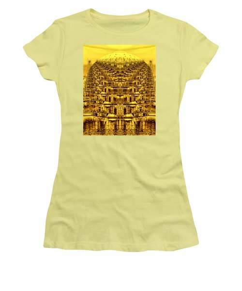 Golden Globe Women's T-Shirt (Junior Cut) by Bob Wall