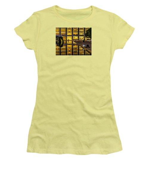 Golden Grid Women's T-Shirt (Junior Cut) by Jeffrey Friedkin