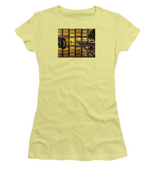 Golden Grid Women's T-Shirt (Athletic Fit)