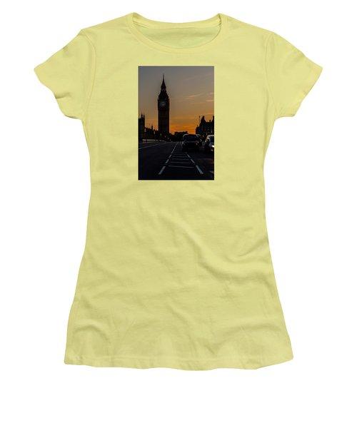 Golden Hour Big Ben In London Women's T-Shirt (Athletic Fit)