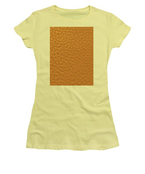Women's T-Shirt (Athletic Fit) featuring the painting Golden Leather Texture Digital Graphic Fineart Christmas Holidays Birthday Anniversary Mom Dad Wife  by Navin Joshi