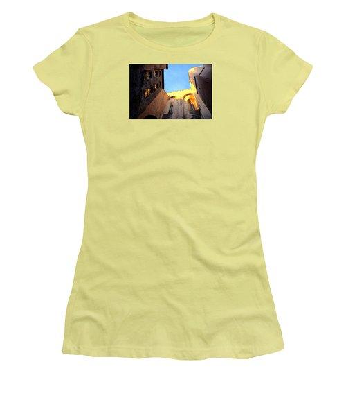 Golden Light In Avignon Women's T-Shirt (Athletic Fit)