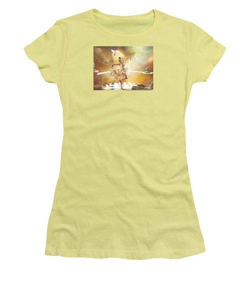 Golden Moments Women's T-Shirt (Junior Cut) by Dolores Develde