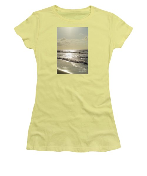 Golden Morning At Folly Women's T-Shirt (Junior Cut) by Jennifer White