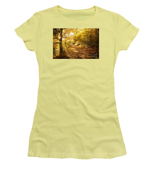 Golden Rays Of Autumn Women's T-Shirt (Athletic Fit)