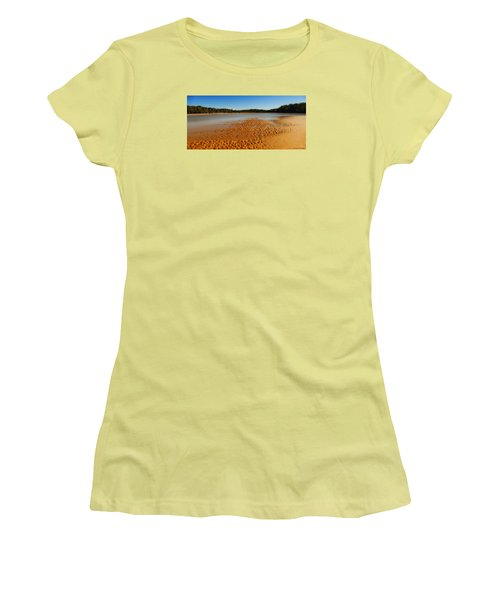 Women's T-Shirt (Junior Cut) featuring the photograph Golden Sand 01 by Kevin Chippindall