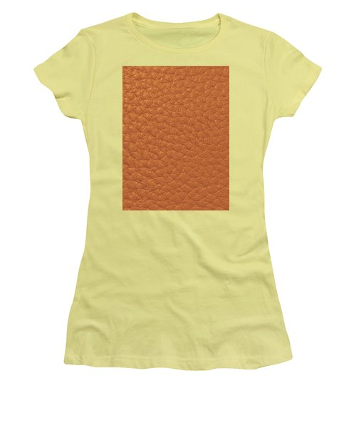 Women's T-Shirt (Athletic Fit) featuring the painting Golden Sparkle Leather Look Background Texture On Gifts Christmas Holidays Birthday Mom Dad Sister  by Navin Joshi