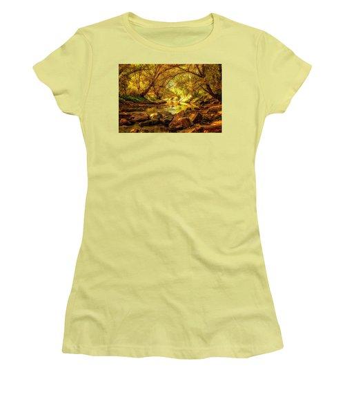 Golden Stream Women's T-Shirt (Junior Cut) by Kristal Kraft
