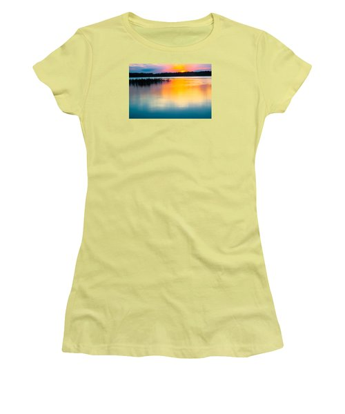 Golden Sunset Women's T-Shirt (Junior Cut) by Parker Cunningham