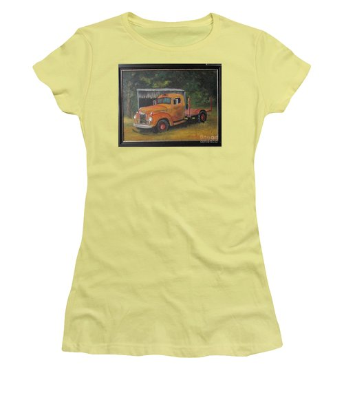 Golden Truck  Women's T-Shirt (Athletic Fit)