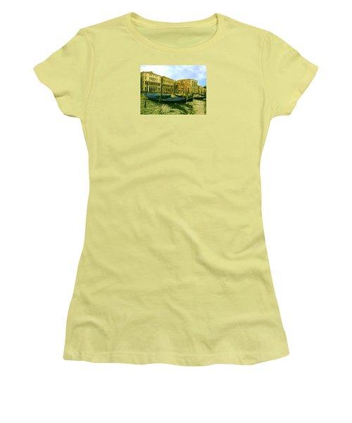 Women's T-Shirt (Athletic Fit) featuring the photograph Golden Venice by Anne Kotan