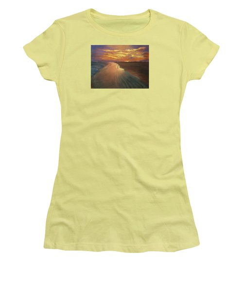 Women's T-Shirt (Junior Cut) featuring the painting Good Night by Alla Parsons