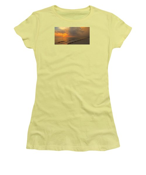 Good Night Sun Women's T-Shirt (Junior Cut) by Sean Allen
