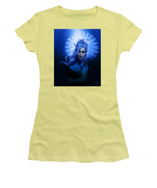 Gorgon Blue Women's T-Shirt (Athletic Fit)