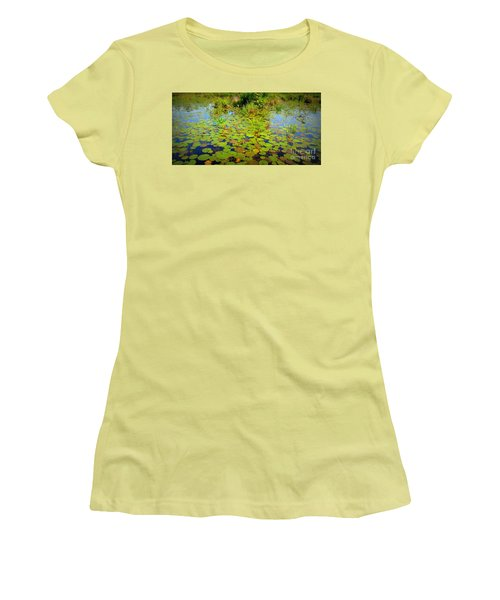 Gorham Pond Lily Pads Women's T-Shirt (Athletic Fit)