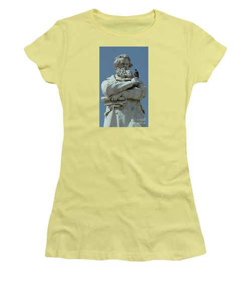 Women's T-Shirt (Junior Cut) featuring the photograph Gossip by Michael Swanson