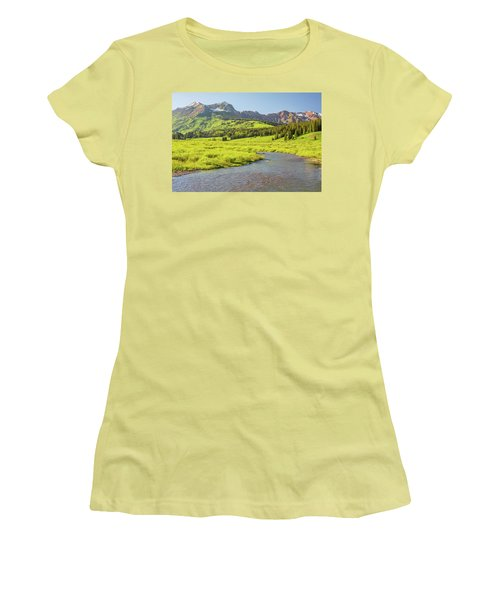 Women's T-Shirt (Junior Cut) featuring the photograph Gothic Valley - Early Evening by Eric Glaser