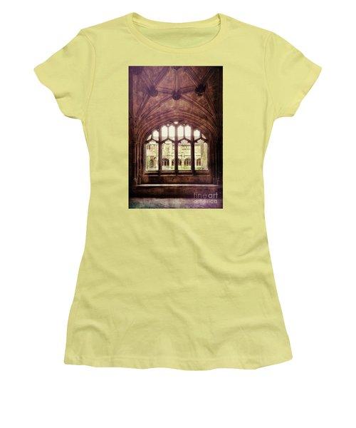 Women's T-Shirt (Junior Cut) featuring the photograph Gothic Window by Jill Battaglia