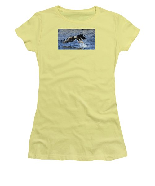 Women's T-Shirt (Junior Cut) featuring the photograph Grabbing Some Dinner by Coby Cooper