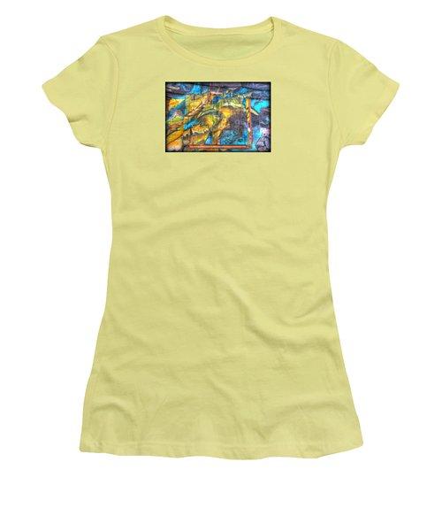 Women's T-Shirt (Junior Cut) featuring the photograph Grafiti Window by Michaela Preston