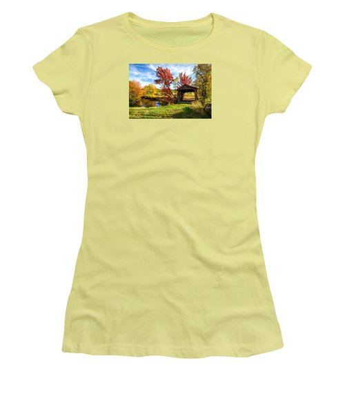 Women's T-Shirt (Junior Cut) featuring the photograph Grafton, New Hampshire by Robert Clifford