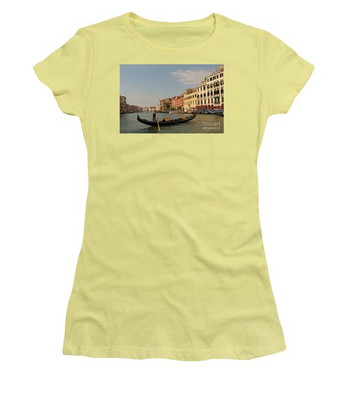 Grand Canal Gondola Women's T-Shirt (Junior Cut) by Loriannah Hespe