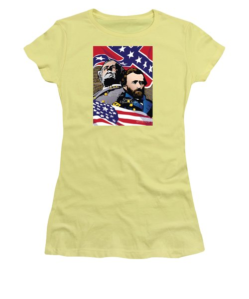 Grant And Lee At Appomattox Women's T-Shirt (Athletic Fit)