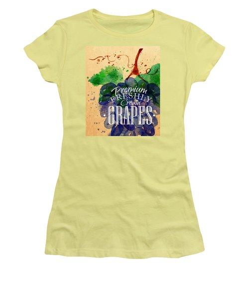 Grapes Women's T-Shirt (Junior Cut) by Aloke Creative Store