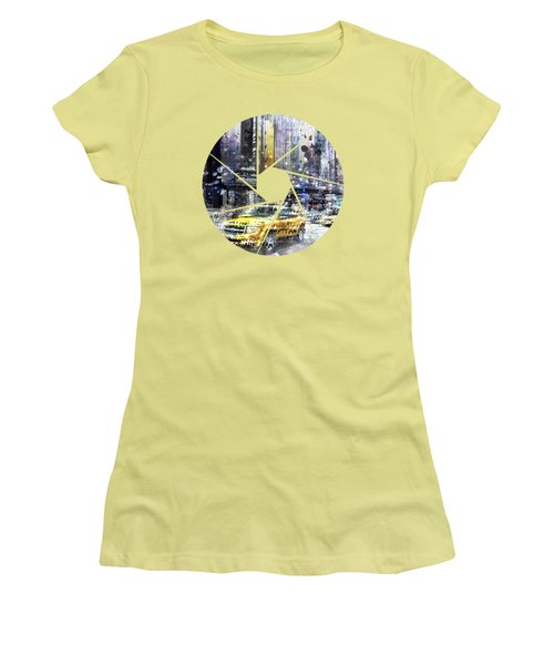 Graphic Art New York City Women's T-Shirt (Junior Cut) by Melanie Viola
