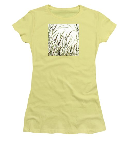 Women's T-Shirt (Junior Cut) featuring the painting Grass Design by James Williamson