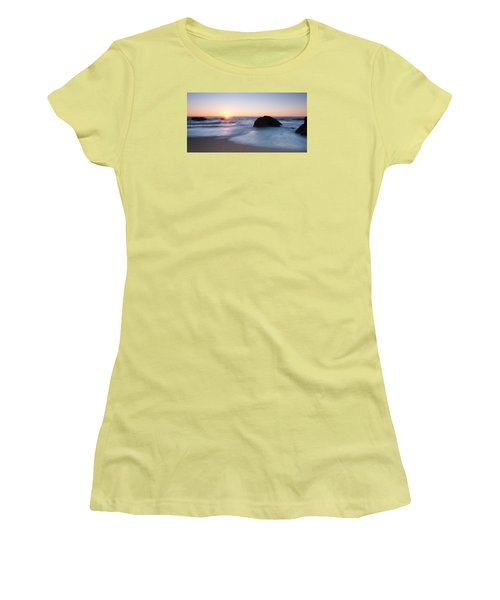 Gray Whale Cove State Beach 3 Women's T-Shirt (Junior Cut) by Catherine Lau