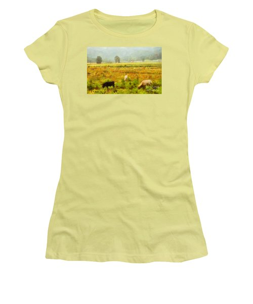 Grazing Women's T-Shirt (Junior Cut) by Elizabeth Coats